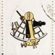 Sextant postage stamp — Stock Photo