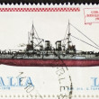 Battleship postage stamp — Stock Photo