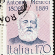 Antonio Meucci postage stamp — Stock Photo