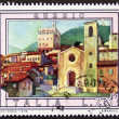 Gubbio postage stamp — Stock Photo