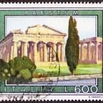 Paestum postage stamp — Stock Photo