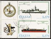 Navi francobollo blocco ter — Foto Stock