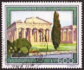 Paestum postzegel — Stockfoto
