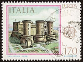 Maschio Angioino postage stamp — Stock Photo