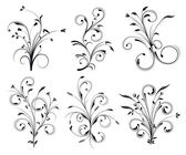 Floral decorations — Stock Vector
