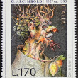 Stock Photo: Arcimboldo postage stamp