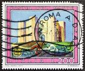 Castel del monte poštovní známka — Stock fotografie