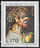 Arcimboldo postage stamp — Stock Photo