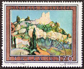 Canossa castle postage stamp — Stock Photo
