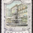 Fontana Madonna Verona postage stamp — Stock Photo