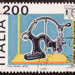 Stock Photo: Old stamping machine postage stamp