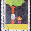 Environmental protection postage stamp — Stock Photo