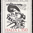 Marinetti postage stamp — Stock Photo