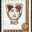 Italian handicraft postage stamp — Stock Photo