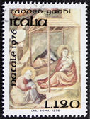 Christmas postage stamp bis — Stock Photo
