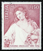 Tiziano Vecellio postage stamp — Stock Photo
