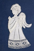 Angel embroidery — Stock Photo