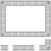 Deco frame  — Stock Vector