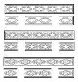 Decorative bands — Cтоковый вектор