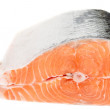 Piece of salmon isolated on white — Stock Photo #12132978
