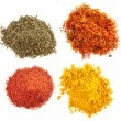 Stock Photo: Piles of different spices