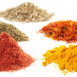 Piles of different spices — Stock Photo #12470965