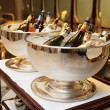Bowls with iced champagne — Stock Photo