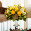 Flowers in a hotel room — Stock Photo