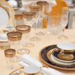 Set of fine bone porcelain dishware — Stock Photo