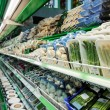 Shelf with groceries in supermarket — Foto de Stock