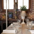 Stock Photo: Table in rustic cuisine restaurant