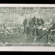 Two dollar note - declaration of independence signing - 图库照片