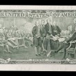 Two dollar note - declaration of independence signing — Stock Photo