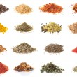 Set of spices isolated on white — Stock Photo