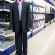 Stock Photo: Clothing departament of big market