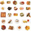 Set of 24  dishes — Stock Photo
