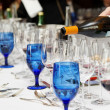 Pouring wine - winetasting event - Stock Photo
