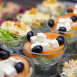Stock Photo: Appetizers on restaurant display, shallow focus