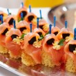 Royalty-Free Stock Photo: Salmon canapes