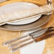 Place setting in restaurant - Stock Photo