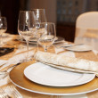 Place setting in restaurant — Stock Photo