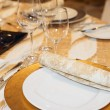 Stock Photo: Place setting in restaurant