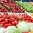 Vegetables and groceries in supermarket — Stock Photo #12475832