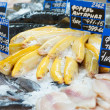 Stockfoto: Yellow trout on fish market display