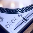 DJ turntable close-up — ストック写真