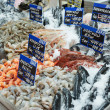 Стоковое фото: Variety of fish and seafood