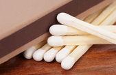 Corresponde a superfície de madeira — Fotografia Stock