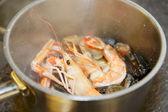 Soupe de fruits de mer cuisine — Photo