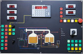 Brewery contol display — Stock Photo