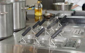 Boilers on commercial kitchen — Stock Photo